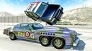 Моды BeamNG Машина с двумя пулеметами Расстрел лимузина и полиции Плюс ссылка скачать мод