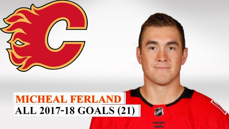 Micheal Ferland (79) All 21 Goals of the 2017-18 NHL Season