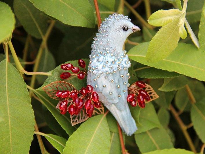 Чудесные броши-птицы от Елены Coffeelena.