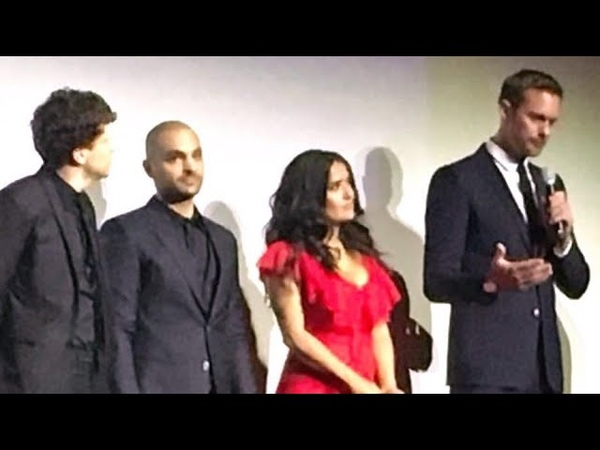Salma Hayek and Alexander Skarsgård at TIFF for the premiere of The Hummingbird project