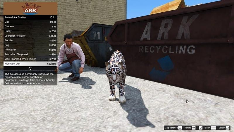 GTA 5 mod Animal Ark Shelter 1.3 Gameplay
