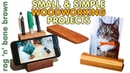 3 Simple Woodworking Projects - Gift Ideas - Including A Desk Tidy Smart Phone Stand Photo Display