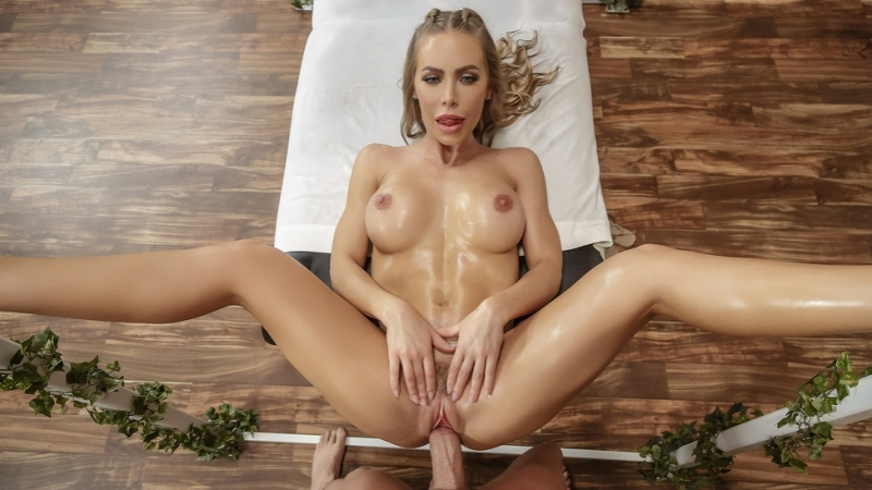 Nicole Aniston Getting Off On The Job ( Big Tits, Blonde, Couples Fantasies, Masseuse, Oil, Work
