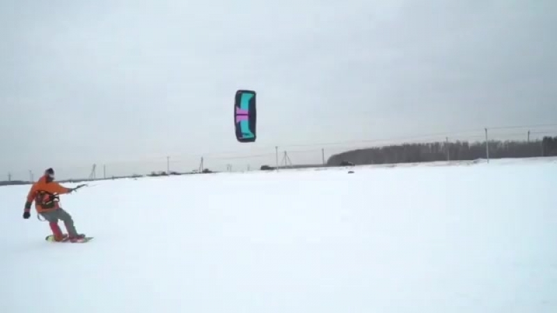 Snowkiting in Moscow