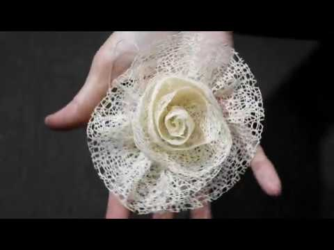 How to make a rose flower with ribbon |玫瑰花朵制作| 服装配饰| 手作包配饰——巧手妈妈课室🌻🌻🌻