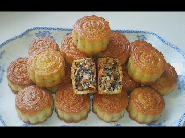 五仁月饼家常做法,不放添加剂不放糖浆,香甜适口,老少皆宜