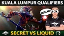 WTF CARRY Dazzle Mid Pick?! LIQUID vs SECRET - The Kuala Lumpur Qualifiers Dota 2