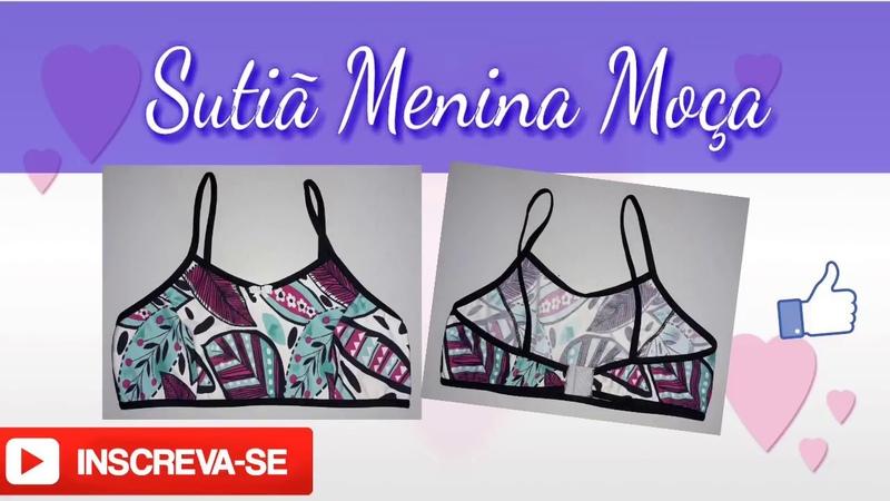 Sutiã Menina Moça: moldes grátis, por Rosania Milhome!