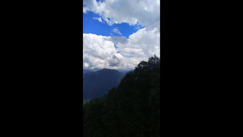 Спуск с высоты 2320 метров Роза хутор