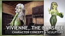 Vivienne the Banshee CONCEPT ART CLAY SCULPTURE