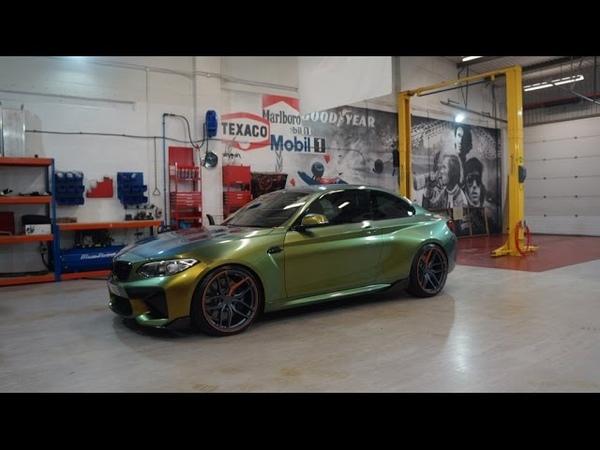 BMW M2 wrapped by pw pro