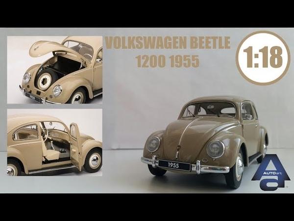 VOLKSWAGEN BEETLE 1955 118 | AUTOart | Обзор модели , ЛЕГЕНДАРНЫЙ ЖУК!