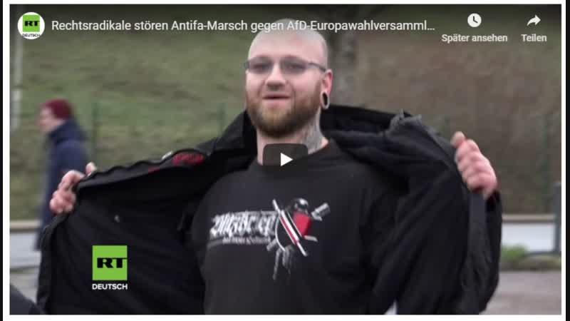 Patrioten stören AntiFa Aufzug *** ein paar geisteskranke Statements der AntiFa sind auch zu hören