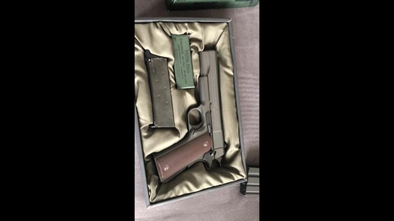 Tokyo Marui Colt M1911A1 Goverment GGBB демонстрация возможностей