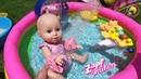 Кукла пупсик Беби Аннабель Играем с Леди Баг, ЛОЛ как МАМА учимся плавать в бассейне Baby Plays Toys