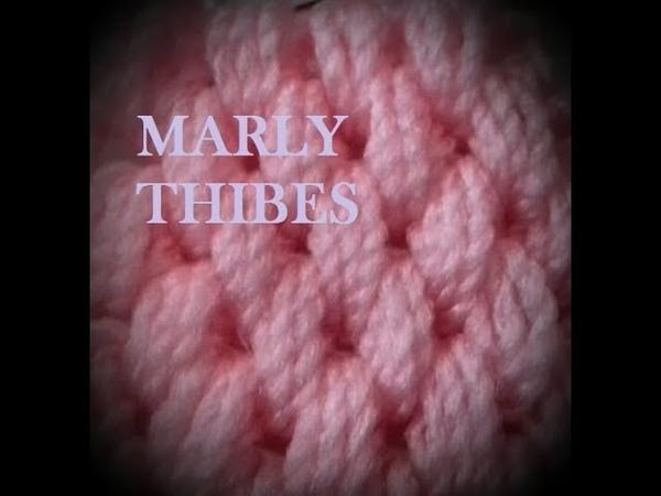 CROCHE TUNISIANO PONTO WAFFLE TUTORIAL Marly Thibes