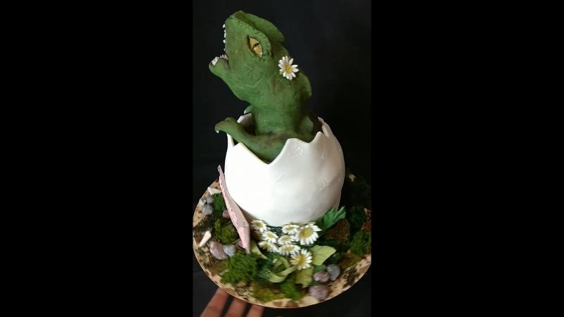 3-d торт динозаврик в яйце