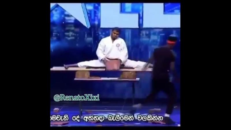 Шри- ланкийский каратист на шоу талантов Karate
