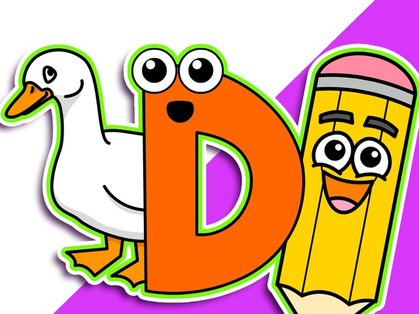 D is for Duck | Level 2 Upper Case D | Kindergarten Lesson, Teach Autistic Children, Baby