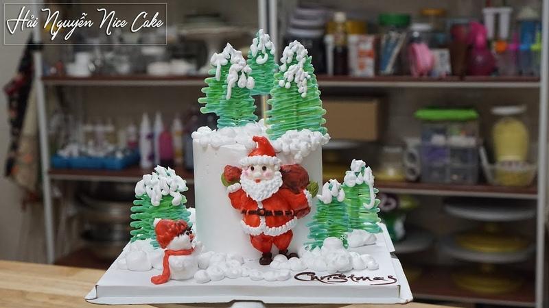 Bánh Sinh Nhật Trang Trí Mừng Giáng Sinh - Decorate Cake For Christmas