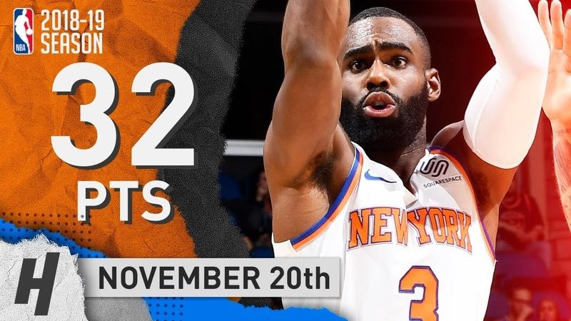 Tim Hardaway Full Highlights Knicks vs Trail Blazers 2018.11.20 - 32 Points!