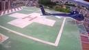 Helicopter crash-landing at Grande Hospital