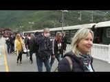 Travelling from Flam to Myrtal by train ( Norway )