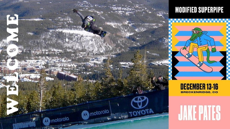 Defending Superpipe Champ Jake Pates Returns to Dew Tour Breckenridge 2018