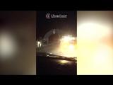 В Дагестане неизвестные расстреляли машину ДПС