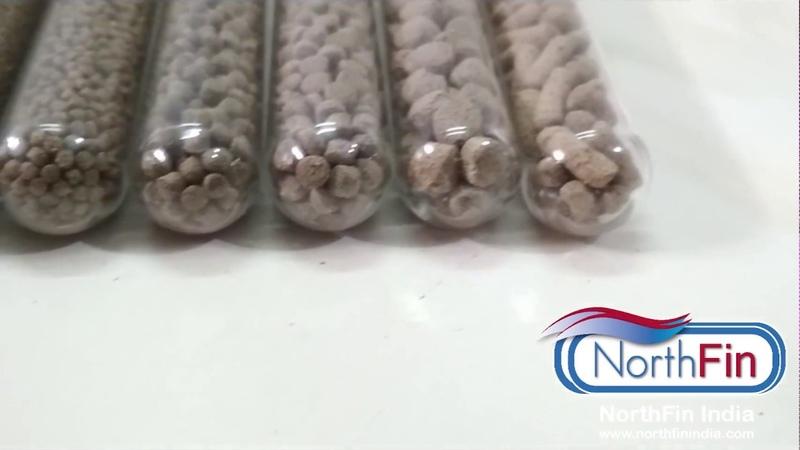 NorthFin fish food pellet sizes