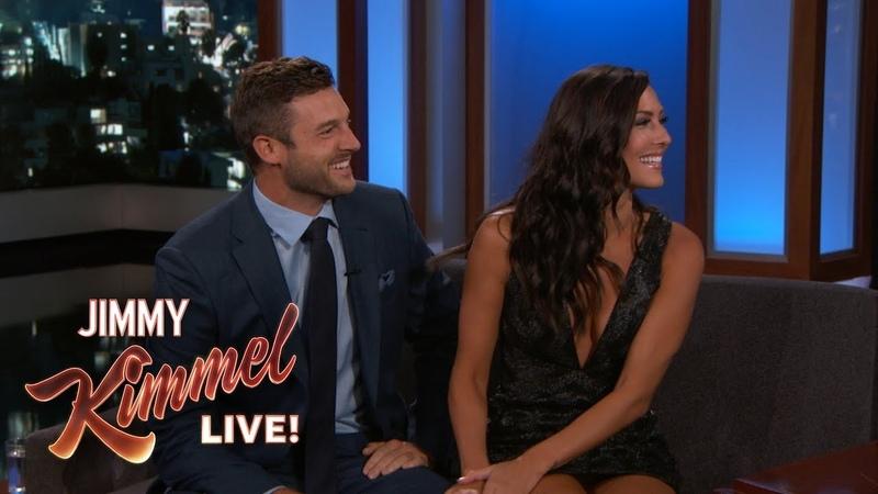 Jimmy Kimmel Interviews Bachelorette Becca Fiancé Garrett