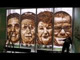 Tape Art by Ostap - Стрит-арт проект в Берлине - Только упаковочный скотч