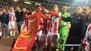 Delije i igraci nakon velike pobede Crvena zvezda Liverpool 2 0