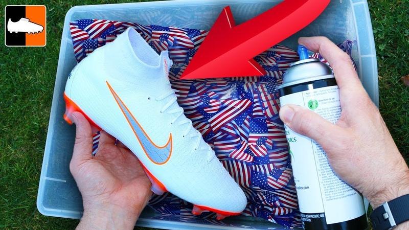 How To Hydro Dip Flag 🇺🇸 Custom Boots ⚽️ Soccer Gear