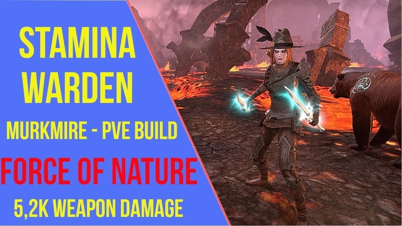 ESO - Stamina Warden PVE Build Force of Nature - Murkmire