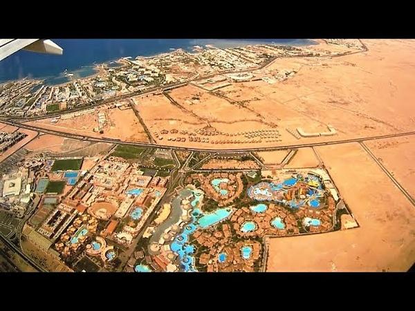 [4K] Landing in Hurghada International Airport - Fly Egypt Airlines