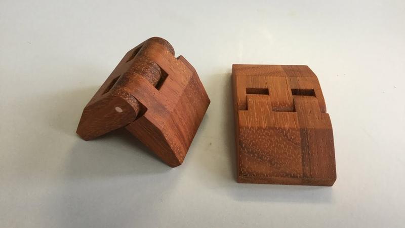 Wooden hinges for caskets Деревянные петли для шкатулок