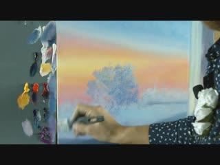 Вебинар по живописи от Ольги Базановой - Зимний закат