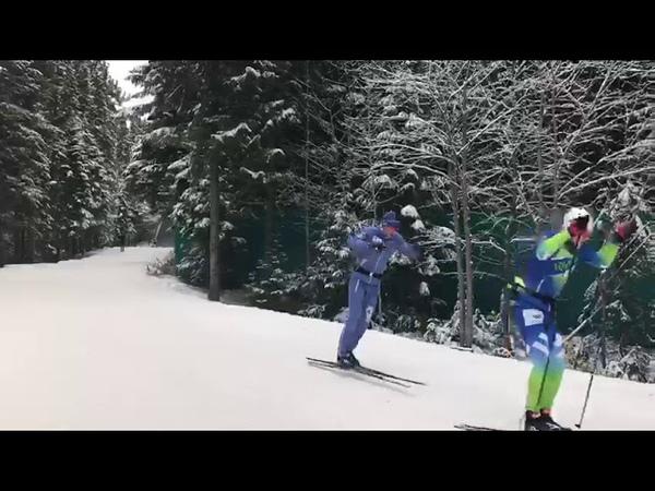 Тренировка лыжников ХМАО-Югры. Вкатка в ЦЗВС им. А.В. Филипенко