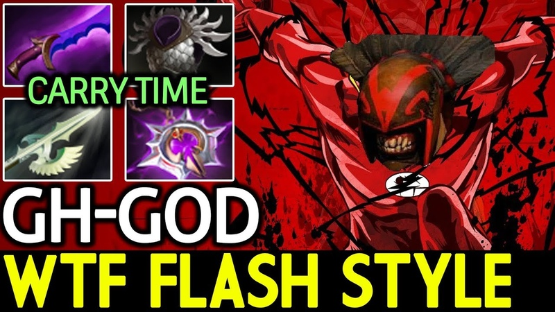 GH-God [Bloodseeker] WTF Real Flash Style 7.17 Dota 2