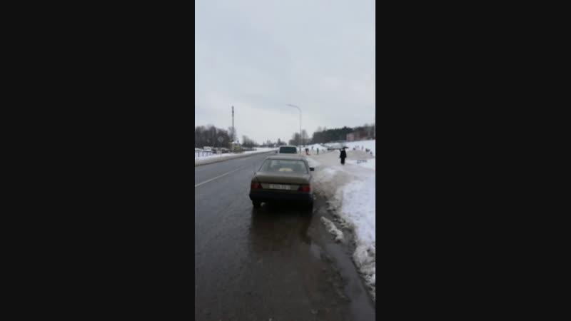 Зимние развлечения на горке. Новополоцк