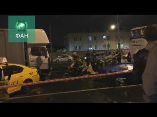 Появилось видео смертельного ДТП с участием семи машин на Варшавском шоссе