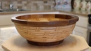 Basket weave bowl from plywood