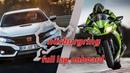 NURBURGRING RECORD Time Attack Car vs Motorcycle - 2017 Honda Civic Type R vs Kawsaki Ninja ZX10R