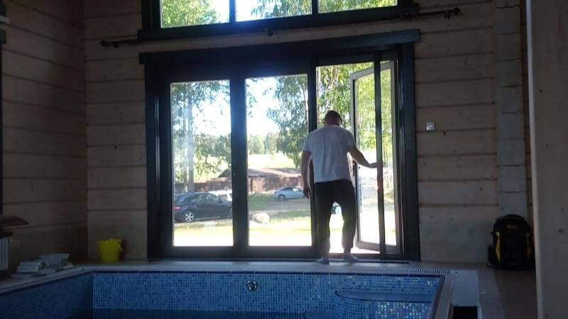 Раздвижная москитная дверь Rollout, двойная