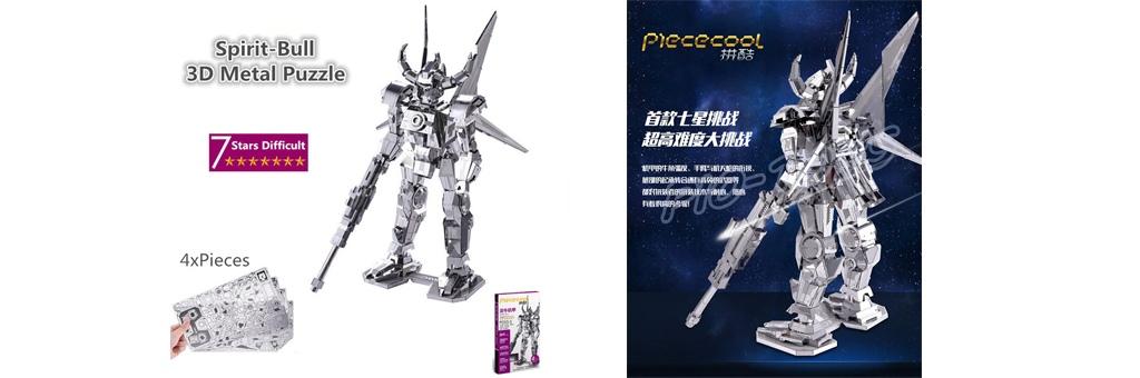 Конструктор Piececool Дух быка 70062