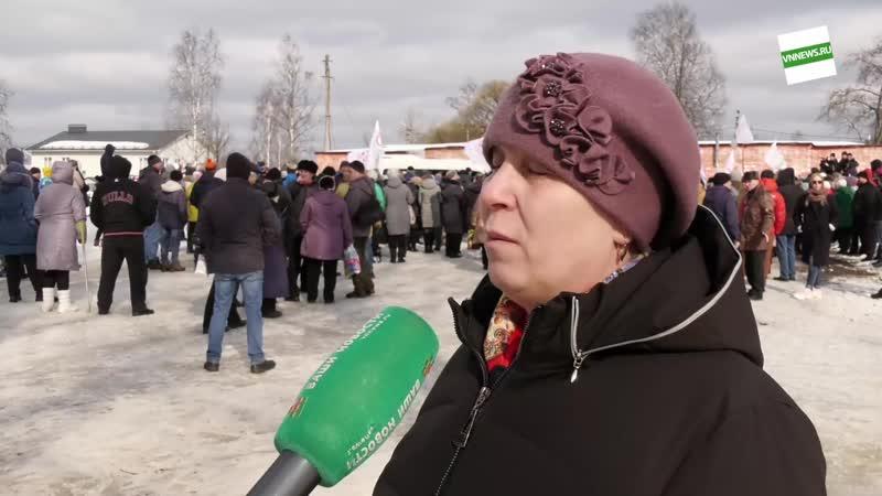 Митинг в Окуловке против оптимизации здравоохранения-2