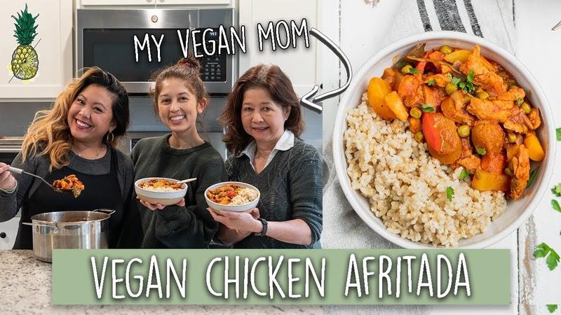 Vegan Filipino Chicken Afritada with Jasmines Vegan Mom!