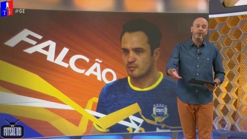 Gênio das quadras, Falcão, brilha em despedida oficial da Seleção Brasileira de Futsal