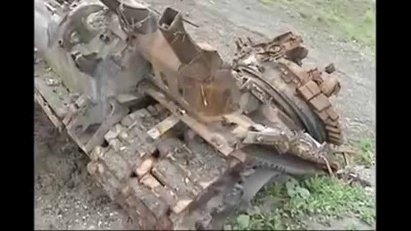 Чечня. Подбитая техника 16 апреля 1996 года, 245 мсп под Ярыш-Марды.